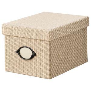 KVARNVIK                                Kasten mit Deckel, beige, 18x25x15 cm