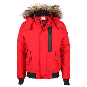 Herren Snowcoat Jacke mit Fellkapuze
