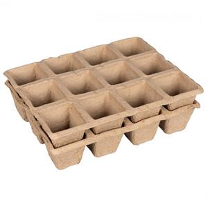 Anzuchttöpfe Set 2-teilig aus Papier mit je 12 Fächern