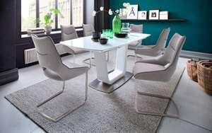 MCA furniture - Stuhlgruppe Aldrina/Xander in grau/weiß