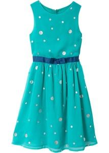 Festliches Kleid mit Glitzerdruck