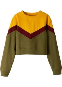 Mädchen Kurzes Sweatshirt