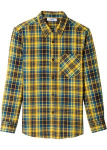 Kariertes Flannell-Langarmhemd