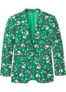 Sakko mit Weihnachtsmotiv Slim Fit