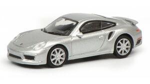 Schuco - Edition 1:87 - Porsche 911 Turbo S (991), silber