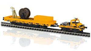 Märklin 39940 - Zweiwege-Unimog mit Fahrleitungsbauwagen