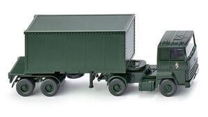 Wiking 0696 24 42 - Containersattelzug (Ford Transcontinental) Brigade Berlin