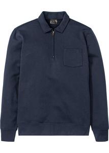 Polo-Sweatshirt mit Reißverschluss