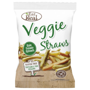 Eat Real Veggie & Kale Straws Kale, Tomato, Spinach & Potato 113g
