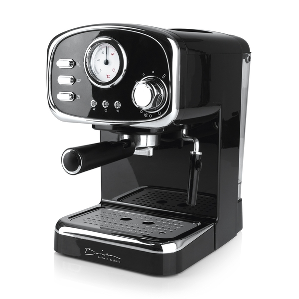 Barista Espressomaschine Retro 15 bar schwarz
