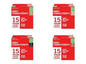 ESMARA® Feinkniestrümpfe, 15 Paar, halbtransparent, verstärkte Fußspitze