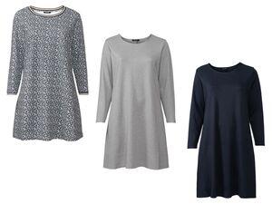 ESMARA® Kleid Damen, Rundhalsausschnitt, Punto-di-Roma-Qualität, mit Viskose und Elasthan