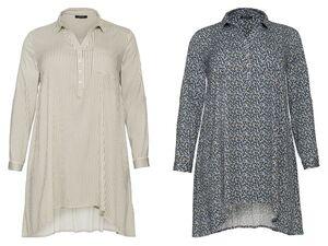 ESMARA® Bluse Damen, lang, Ärmel mit Krempelfunktion, verlängerte Rückseite, aus Viskose