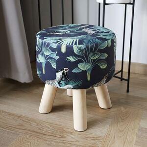 Hocker Tropical mit 4 Holzbeinen 28x31,5cm