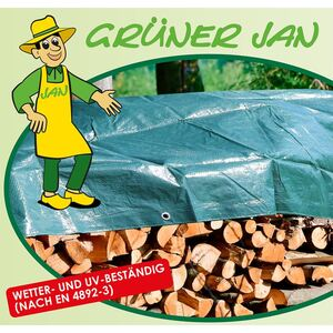Grüner Jan Gewebeplane 4x6m Grün