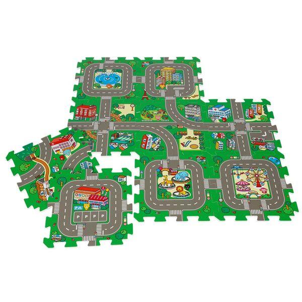 Puzzlematte Straße 9-teilig
