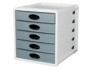 UNITED OFFICE® Schubladenbox, mit 5 Schubladen, Auszug-Stopp, integrierte Stiftablage