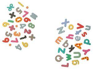UNITED OFFICE® Magneten, 90 oder 100 Stück, Symbole, Buchstaben oder Zahlen