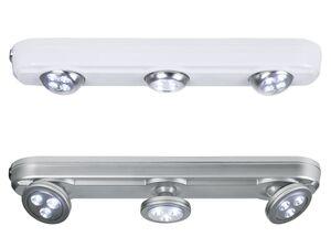 LIVARNO LUX® Unterbauleuchte, mit 3 LEDs, schwenkbare Spots, Dimmschalter, warmweißes Licht