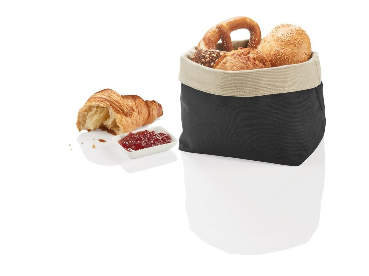 Bild 3 von ERNESTO® Brotkorb, faltbar, lebensmittelecht, Obermaterial aus Baumwolle