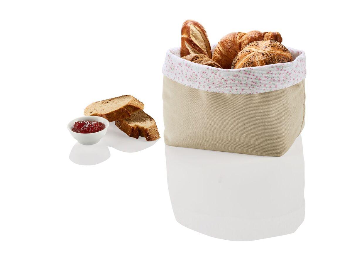 Bild 5 von ERNESTO® Brotkorb, faltbar, lebensmittelecht, Obermaterial aus Baumwolle