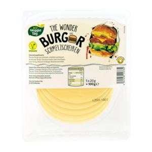 MEIN VEGGIE TAG     Vegane Burger Käsescheiben