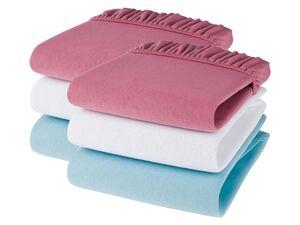 LUPILU® Baby Spannbettlaken, 2 Stück, mit Rundumgummizug, aus Baumwolle