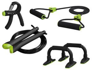 CRIVIT® Unterarmtrainer/ Liegestützgriffe/ Expander/ Springseil, für Home Training