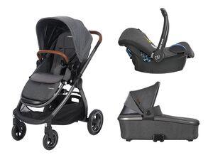 Maxi-Cosi Kinderwagen Adorra +  Oria Babywanne +Babyschale Cabrio Fix Sparkling Grey