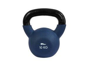CRIVIT® Kettlebell, 10 kg, aus Gusseisen, mit breitem Griff, inklusive Trainingsanleitung