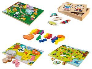 PLAYTIVE® Puzzle/ Lernspiele, aus Echtholz