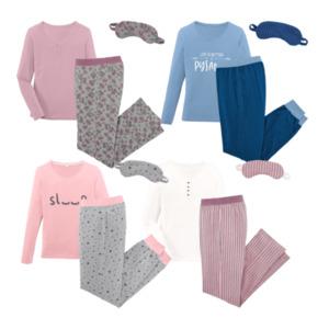 QUEENTEX     Pyjama mit Schlafmaske