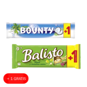 Balisto Riegel, Milky Way oder Bounty