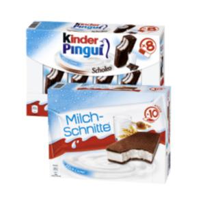 Ferrero Milch-Schnitte, Kinder Pingui oder Paradiso