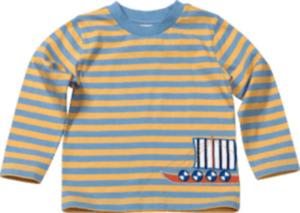 ALANA Kinder Shirt, Gr. 104, in Bio-Baumwolle, blau, gelb