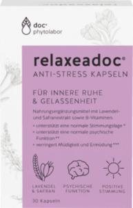 relaxeadoc Safran plus 30 mg Kapseln, 30 St.
