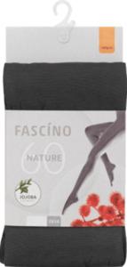 FASCÍNO Strumpfhose Nature, 60 den, hellgrau, Gr. 46/48