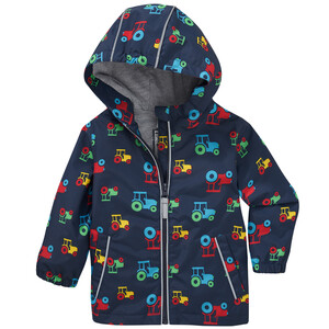 Baby Regenjacke mit Trecker-Allover