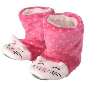 Mädchen Pantoffeln mit Katzen-Motiv