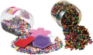 HAMA-Bundle mit 11.000 bunten Bügelperlen & 3 Stiftplatten