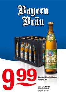Bayern Bräu Pilsener, Helles Vollbier oder Weißbier hell