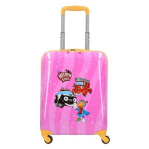 Helden der Stadt 4-Rollen Kindertrolley 47 cm Trolleys pink