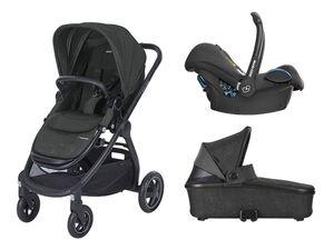 Maxi-Cosi Kinderwagen Adorra +  Oria Babywanne + Babyschale CabrioFix Nomad Black