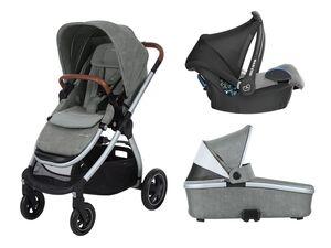 Maxi-Cosi Kinderwagen Adorra +  Oria Babywanne + Babyschale CabrioFix Nomad Grey