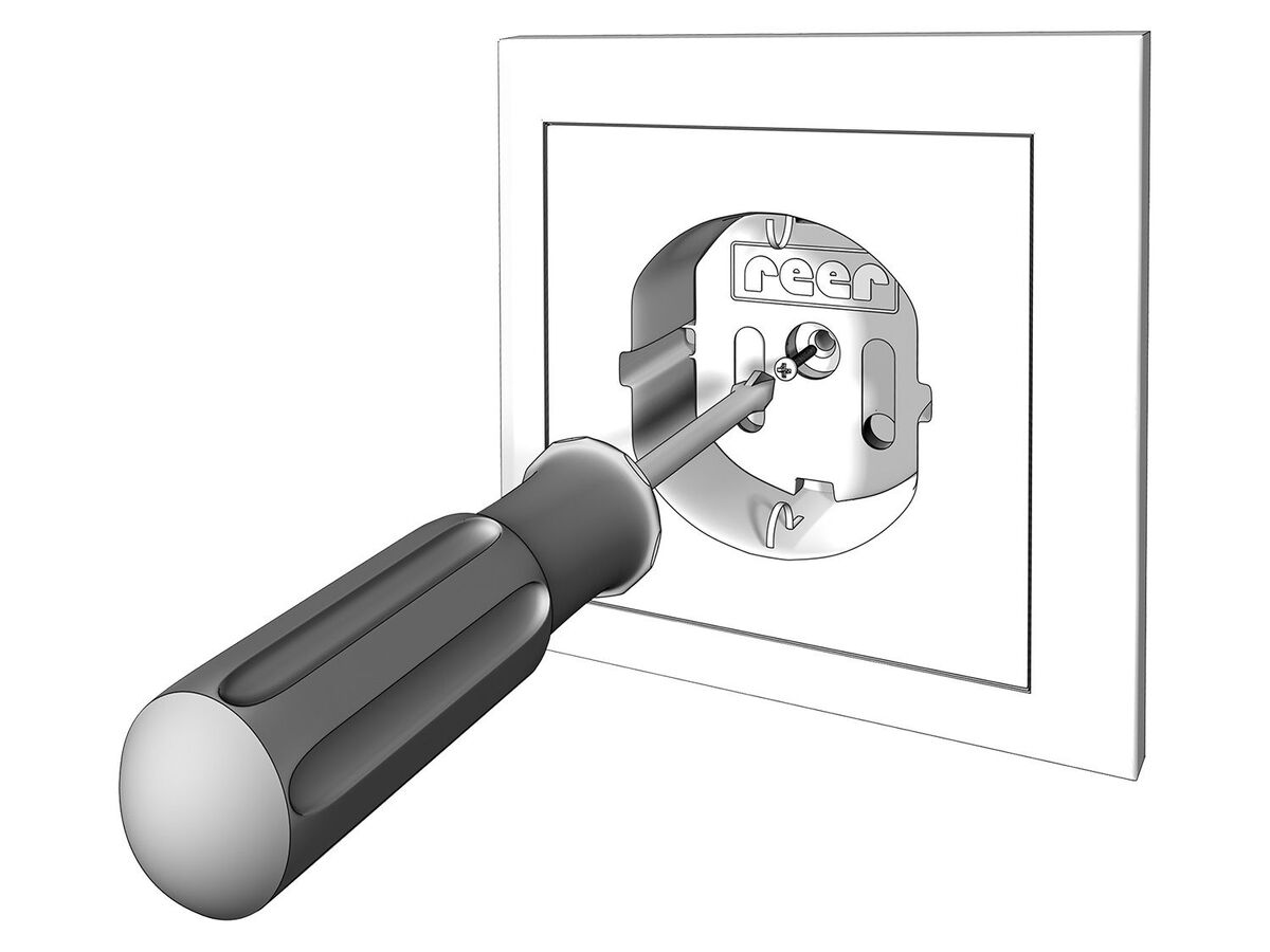 Bild 3 von Reer Steckdosenschutz, 20 Stück, schraubbar, geeignet für alle gängigen Steckdosen