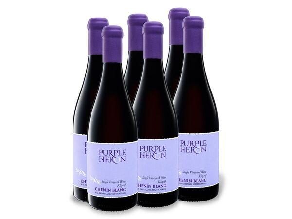 6 x 0,75-l-Flasche Purple Heron Südafrika Chenin Blanc trocken, Weißwein