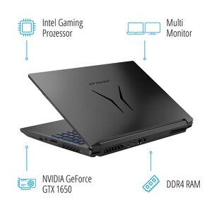 MEDION ERAZER® P15609, Intel® Core™ i7-9750H, Windows 10 Home, 39,6 cm (15,6'') FHD Display, GTX 1650, 512 GB SSD, 1 TB HDD, 16 GB RAM, Core Gaming Notebook