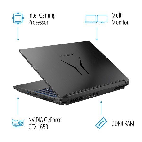MEDION ERAZER® P15609, Intel® Core™ i7-9750H, Windows10Home, 39,6 cm (15,6'') FHD Display, GTX 1650, 512 GB SSD, 1 TB HDD, 16 GB RAM, Core Gaming Notebook