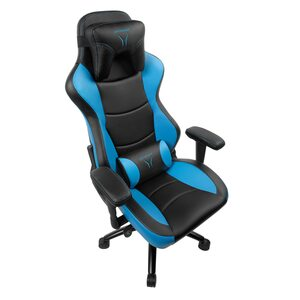 MEDION ERAZER® X89018 Gaming Stuhl, stilvoll und komfortabel, sportliche Optik und hochwertige Materialien, mit 2 Kissen für den Rücken- und Kopfbereich