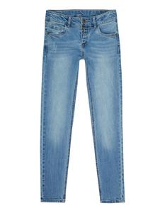 Mädchen Slim Fit Jeans mit Knopfleiste